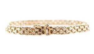 9ct rose gold double row chain link bracelet
