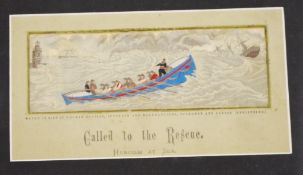 Framed Antique Stevengraph 'Called to the Rescue'