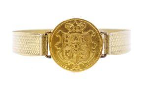 1832 William IV gold sovereign set gilt metal