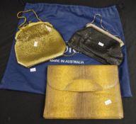 Vintage ladies snakeskin clutch bag