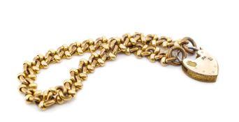 Antique gilt metal fancy link bracelet