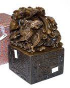 Chinese carved dragon decorated seal