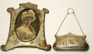 British sterling silver purse & picture frame