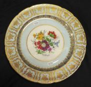 Paragon floral and gilt display plate
