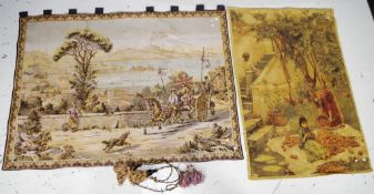 Two various tapestry wall hangings