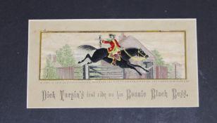 Framed early Stevengraph 'Dick Turpin's Last Ride'