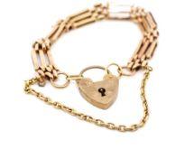 Rose gold gate link bracelet