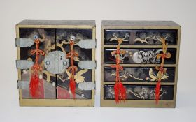 Two Japanese lacquer ware miniature chests