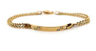 9ct yellow gold ID bracelet