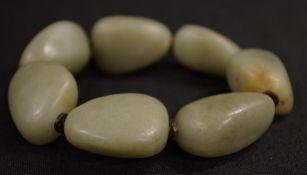 Chinese green stone bracelet