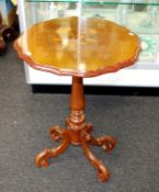 Decorated wooden occasional table