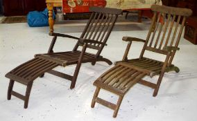 Two fold away outdoor chairs
