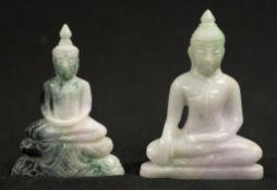 Chinese lilac jade Buddha figurine