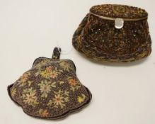 Two vintage beaded evening bags