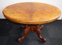 Victorian walnut loo table