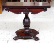 William IV mahogany card table