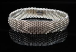 """Tiffany & Co sterling silver """"Somerset"""" mesh"""