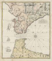 Homann, Johann Baptist: Carte nouvelle De l'Isle de Cadix