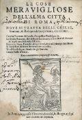 Accolti, Vincenzo: Le cose meravigliose dell'alma citta di Roma