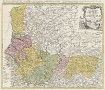 Homann, Johann Baptist: Sammlung von Frankreichkarten