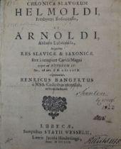 Helmoldus Bosoviensis: Chronica Slavorum