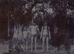 British India: Group portrait of indigenous people, India