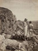 Gloeden, Wilhelm von: Young male nudes by fountain