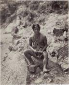 British India: Lepcha man and woman, Darjeeling