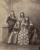 Ermakov, Dimitri N.: Studio group portrait of women in national dress