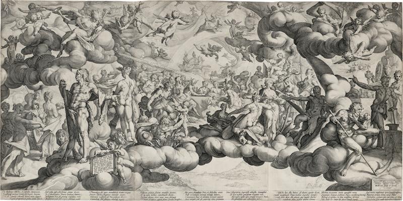 Goltzius, Hendrick: Die Hochzeit von Amor und Psyche