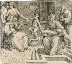 Francia, Giacomo: Die Hl. Familie mit der Hl. Elisabeth und Johannes d. Tä...