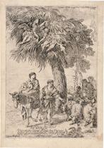 Castiglione, Giovanni Benedetto: Die Flucht nach Ägypten