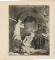 Rembrandt Harmensz. van Rijn: Die Enthauptung Johannes des Täufers