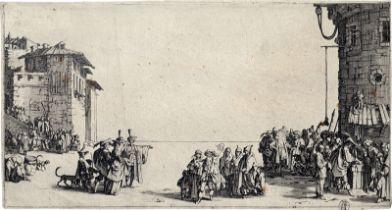 Callot, Jacques: Le Marché d'esclaves (Die kleine Ansicht von Paris)