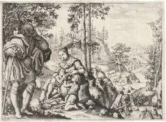 Anichini, Pietro: Die Heilige Familie mit dem Johannesknaben in einer Land...