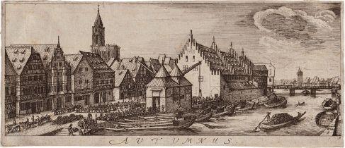 Hollar, Wenzel: Die vier Jahreszeiten mit Ansichten von Straßburg