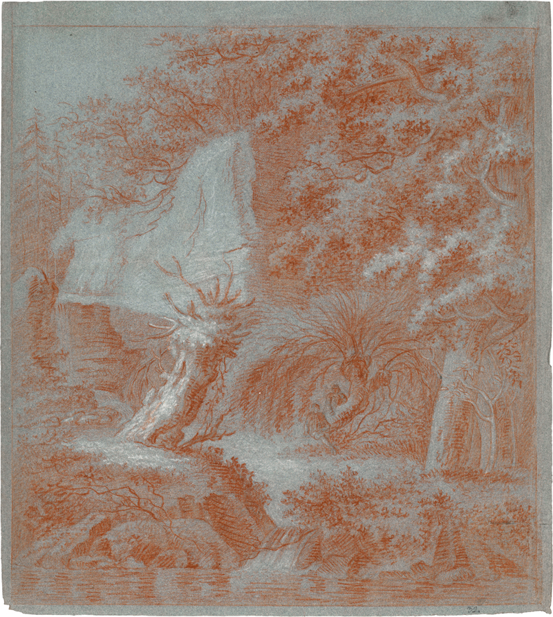 Winter, Johann Georg: Flusslandschaft mit Weidenstumpf