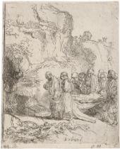 Rembrandt Harmensz. van Rijn: Christus zu Grabe getragen