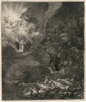 Rembrandt Harmensz. van Rijn: Die Verkündigung an die Hirten