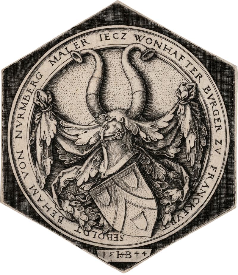 Beham, Hans Sebald: Das Wappen Behams; Das Wappen mit schreitendem Löwen - Image 2 of 2