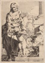 Bourdon, Sébastien: Das Christuskind auf den Sünden trampelnd