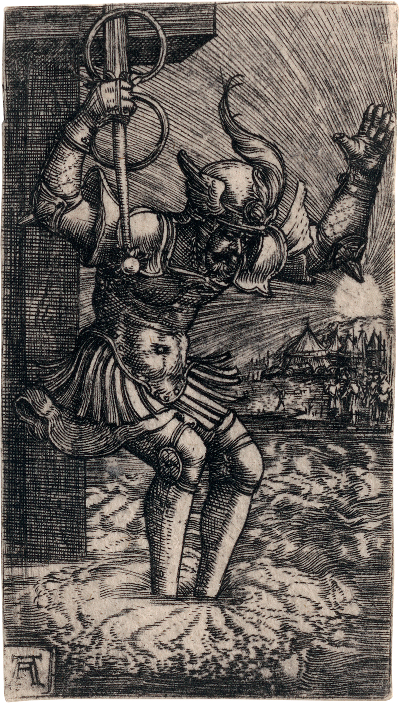 Altdorfer, Albrecht: Horatius Cocles springt in den Tiber