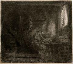 Rembrandt Harmensz. van Rijn: Der hl. Hieronymus im Zimmer