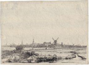 Rembrandt Harmensz. van Rijn: Ansicht von Amsterdam