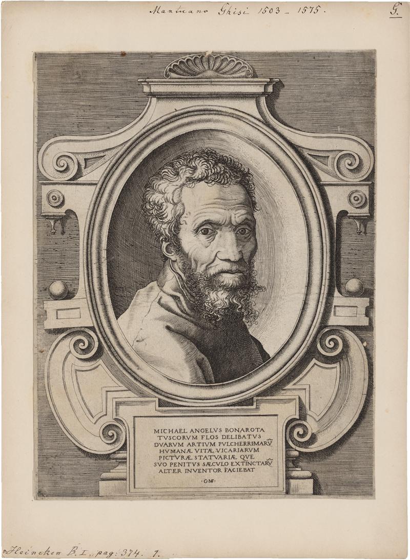 Ghisi, Giorgio: Portraitbüste des Michelangelo Buonarotti