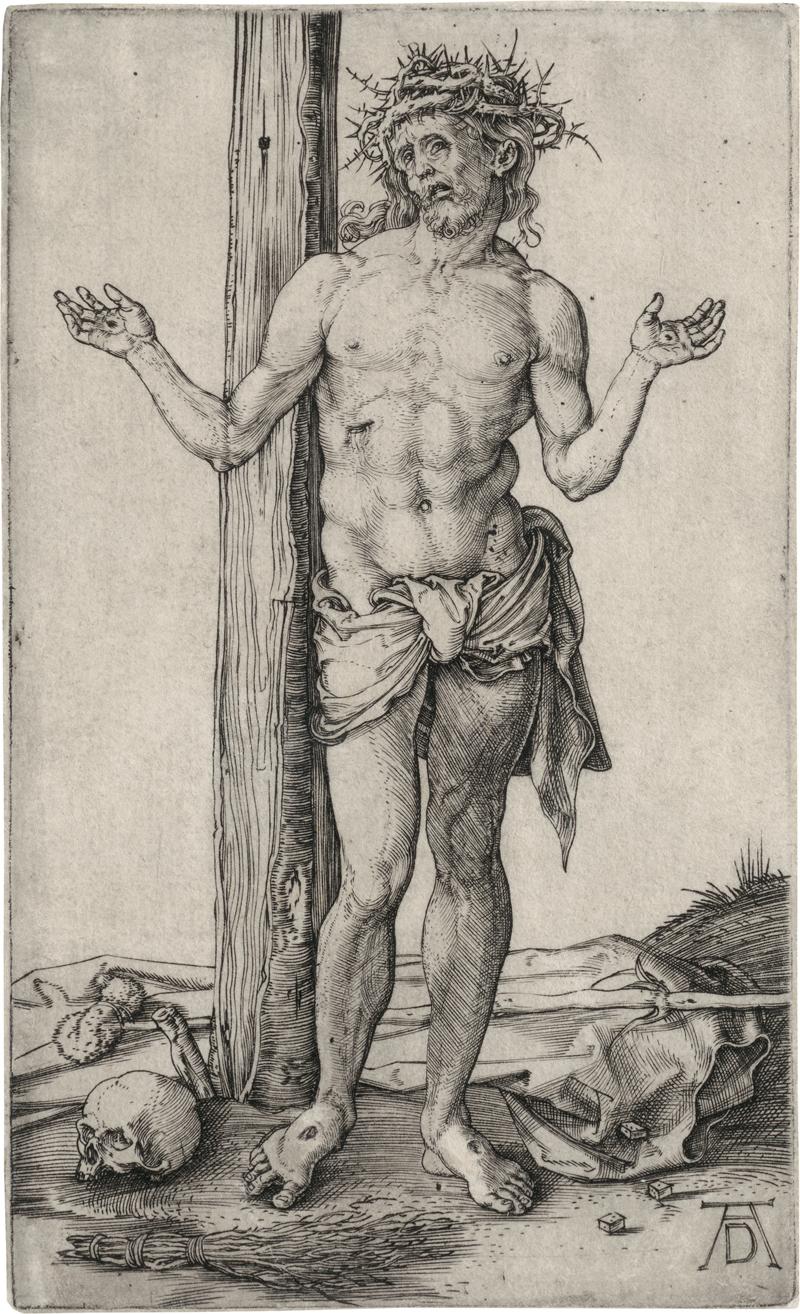 Dürer, Albrecht: Der Schmerzensmann mit ausgestreckten Armen