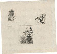 Rembrandt Harmensz. van Rijn: 3 Radierungen von und nach Rembrandt