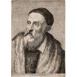 Carracci, Agostino: Selbstbildnis Tizian