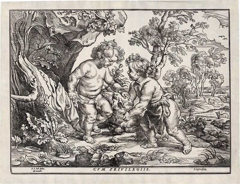 Jegher, Christoffel: Jesus und Johannes mit dem Lamm