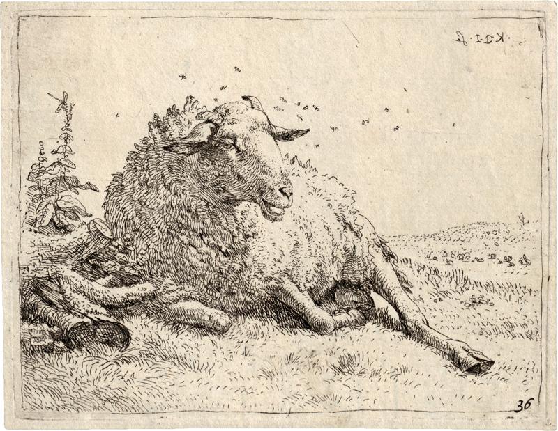 Dujardin, Karel: Das druckgraphische Werk des Künstlers. - Image 3 of 3